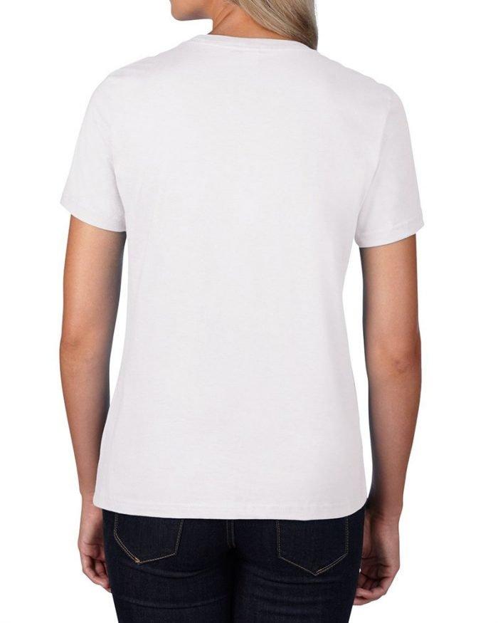 4100L_maglietta_donna_bianca_premiun_cotton_gildan_kslabpersonalizzazione