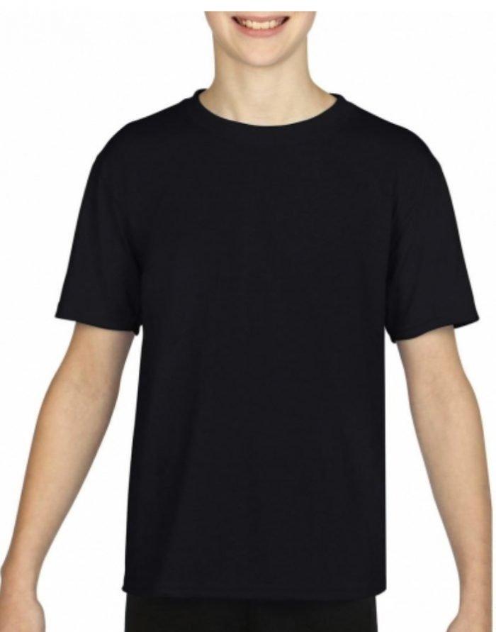 maglietta_tshirt_bambino_bambina_nera_ragazzo_ragazza_gildan_premiun_cotton_kslab_personalizzazione